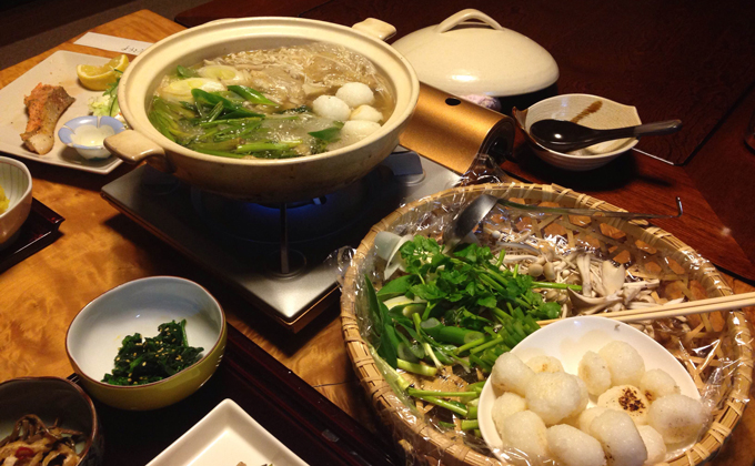 Damako nabe (Traditional hot pot dishes)