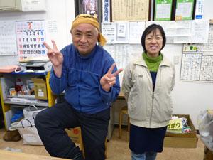 (左)菊地さんと(右)小林店長