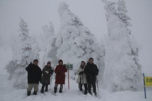 モンスター樹氷と記念撮影