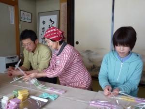 干し餅作り「編む」