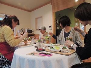 秋野菜パフェ作り