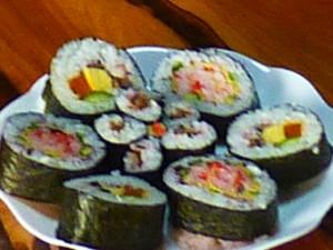 飾り巻き寿司完成